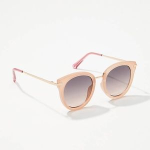 New Loft Blush Pink Round Sunglasses